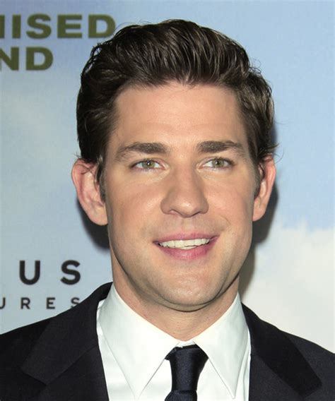 john krasinski haircut john krasinski short straight formal hairstyle dark