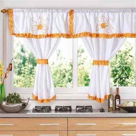 cortina cocina cortinas para cocina con galera en color naranja