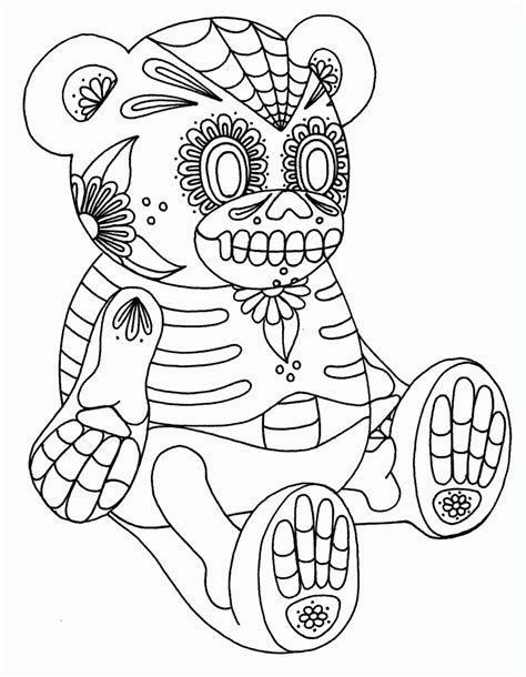 sugar skull coloring pages pdf free 15 pics of sugar skull coloring pages wolf day of dead