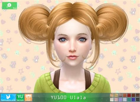 ponytailsims 4 child yu100 ulala hair child free at newsea sims 4 187 sims 4