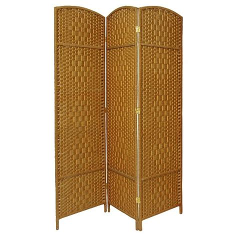 7ft room divider 7 ft weave room divider 3 panels furniture target