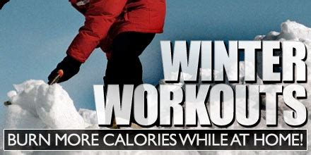 winter workouts burn more calories while at home