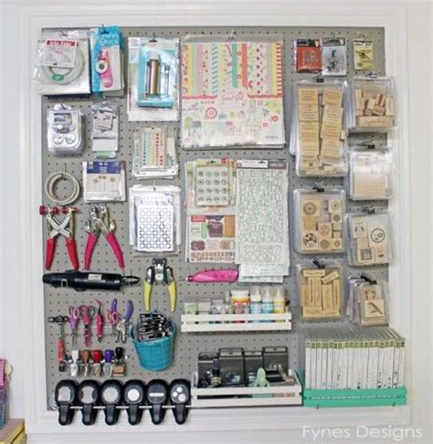 Pegboard Craft Room Craft Room Pegboard Storage Craft Storage