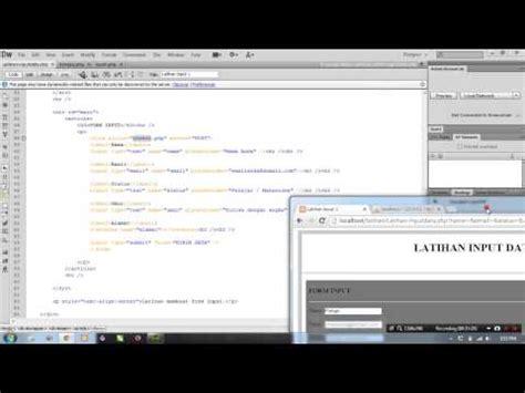 html input pattern date cara membuat web input data dengan php dan mysql doovi