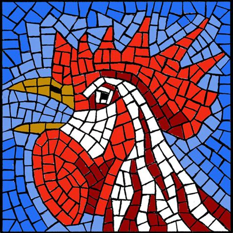 mosaic templates for free mosaic pattern crowing rooster