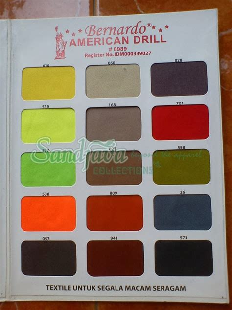 Kain Katun Golden Mella Polos katalog warna bernardo american drill sandjava collections
