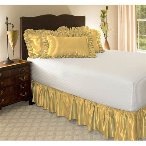 how to put on a bed skirt satin ruffled bed skirt 18 quot drop length ebay