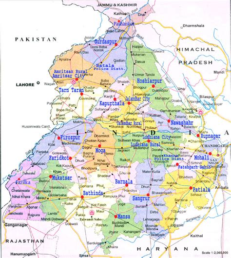map of punjab punjab india state map