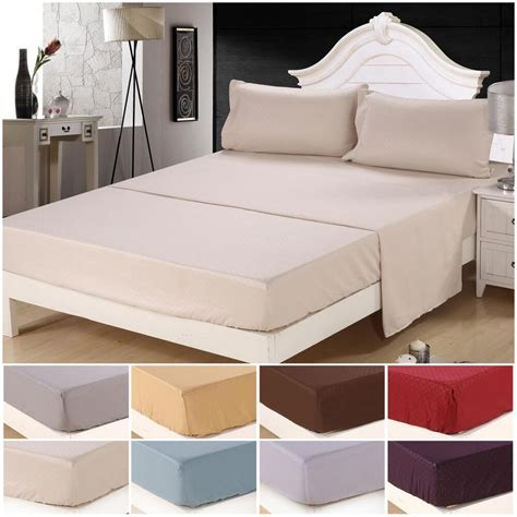 Bed Sheets by Soft King Size 4 Bed Sheet Set Bedding Sets 1800