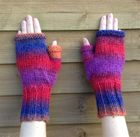 english knitting pattern for mittens fingerless gloves knitting pattern knit chunky mittens