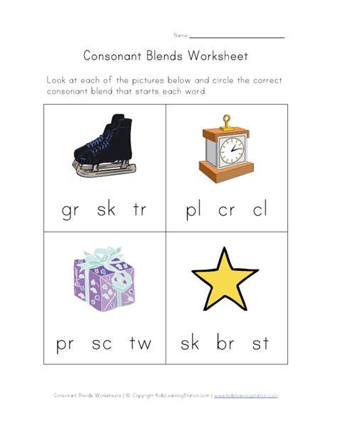 S Blends Worksheet by Consonant Blends Worksheet One Literacy