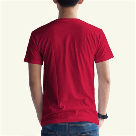 Kaos Polos O Neck Warna Merah Cabe Ukuran Xl Cotton Combed 20s toko jual grosir kaos distro kaos polos merah cabe v