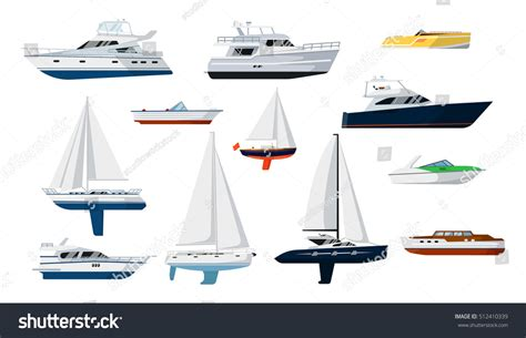 side of a ship or boat motor boat sail boat side view stock vector 512410339