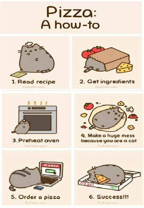 How To Make A Meme Comic With Your Own Picture - making pizza with pusheen motivation o pinterest