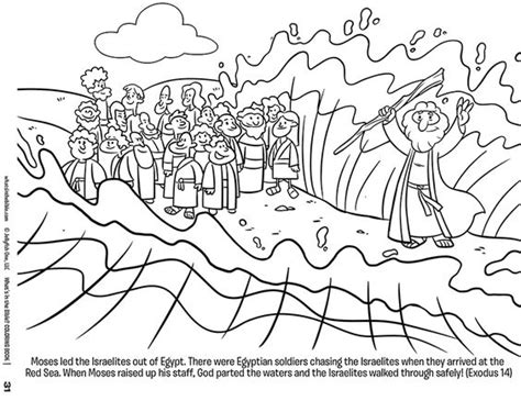 moses coloring pages preschool moses and the red sea free coloring page download kids