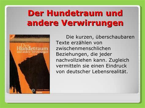 der hundetraum und aufgabe 5 3 sommerferien mit deutsch