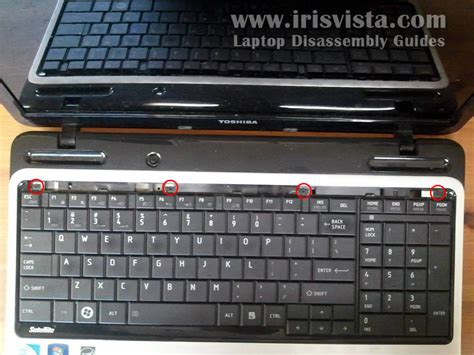 toshiba satellite l755 l755d l750 l750d disassembly