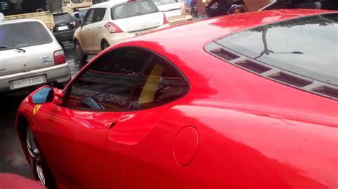 8 Ferrari Accident by Ferrari In Indian Traffic Accident Youtube