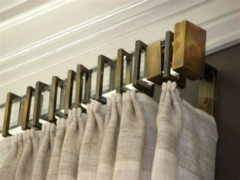 drapery slides rectangular acrylic with antique brass rings brackets