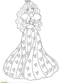 Coloriage Princesse sur Hugolescargot.com