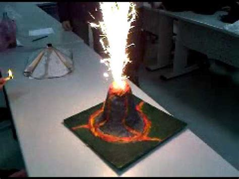 How To Make A Paper Volcano That Erupts - school geography project make a volcano
