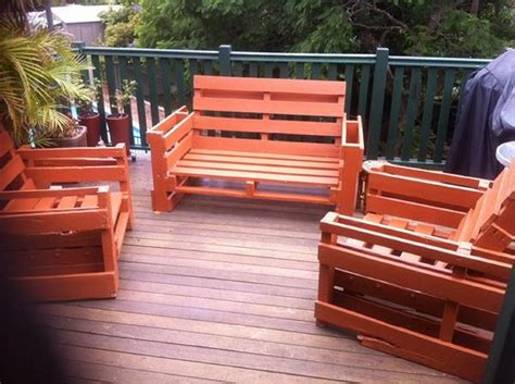 patio furniture with pallets pallet outdoor furniture plans recycled things