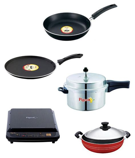 induction cooker where to buy pigeon induction cooker pressure cooker and 3 pcs non stick cookware set buy at best