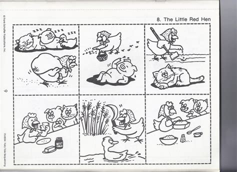preschool sequencing activities printable the little red hen red hen kindergarten and activities