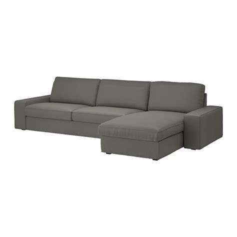 divano kivik kivik divano a 3 posti e chaise longue borred grigio