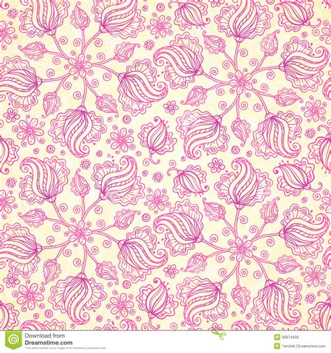 doodle pink pink abstract doodle flowers seamless pattern royalty free