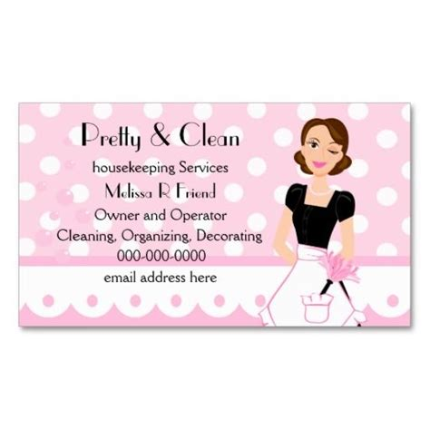 free business card templates for house cleaning best