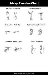 tricep workouts at home tricep exercise charts