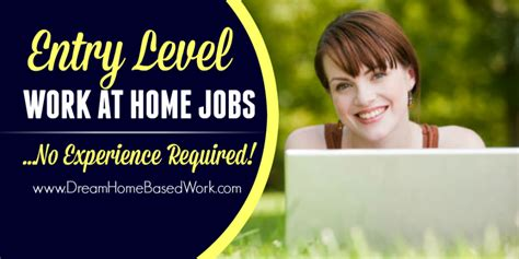 entry level work at home with no experience