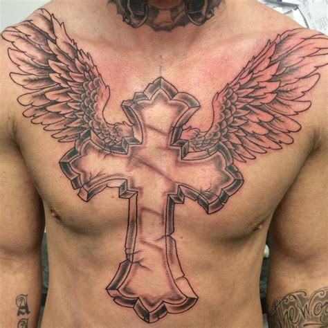 cross angel wings tattoo 21 wing designs ideas design trends