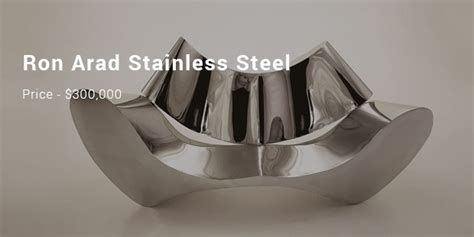 ron arad stainless steel sofa 6 most expensive sofas list expensive sofas successstory