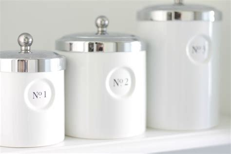 White Canisters For Kitchen by 12th And White Thrifting 101