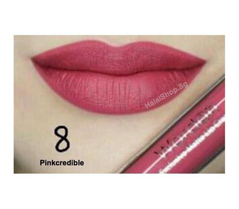 Wardah Matte Lip halal cosmetics singapore wardah exclusive matte lip 08 pinkcredible more brands