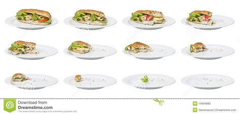 Time Lapse Sandwich Royalty Free Stock Photo Image