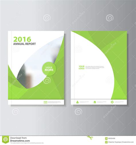 green brochure layout vector eco green vector annual report leaflet brochure flyer