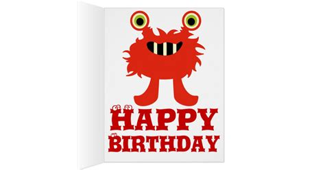 free printable birthday cards 8 5 x 11 monster great big huge 8 x 11 happy birthday card zazzle