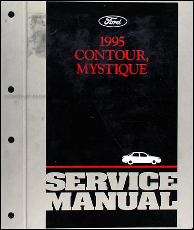car repair manuals online pdf 1995 ford contour user handbook 1995 ford contour mercury mystique repair shop manual original