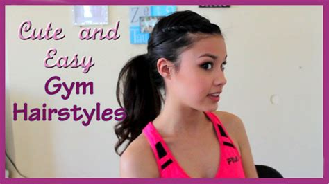 short hair gymnastics style 3 cute easy and fun gym hairstyles youtube