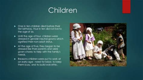 themes of children s literature in colonial america daily life in colonial america