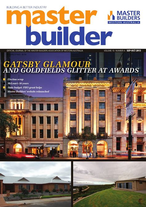 Ato Mba Tax Deduction by 2013 Sep Oct Master Builders Wa Magazine By Master