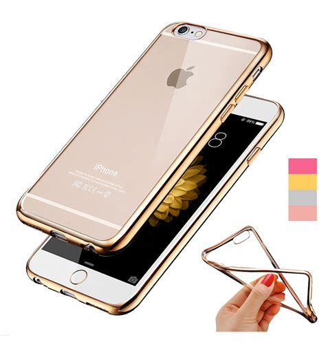 Chrome Clear Soft Casing Iphone 5 5s Se 6 6s buy ultra thin gold plating clear soft apple iphone 5 5s se covers transparent
