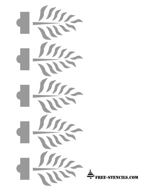 free printable wall stencils of flowers 7 best images of free printable border stencil designs