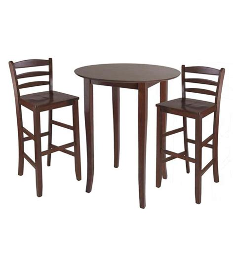 High Breakfast Table three high top dining table and chairs in bar table sets