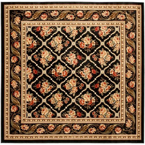 7 X 7 Square Area Rugs by Safavieh Lyndhurst Black 6 Ft 7 In X 6 Ft 7 In Square