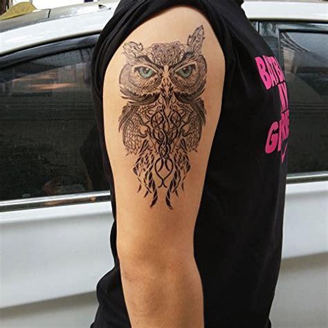 tattoo maker in sharjah cokohappy large temporary tattoo owl buy online in uae