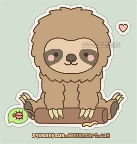 fluffy sloth by squeakytoybox on deviantart